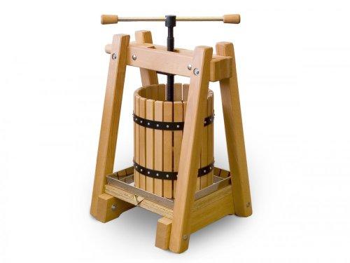 andere Hersteller 40 Liter Weinpresse ❁ Obstpresse EU-Qualität aus handgearbeitetem Buchenholz