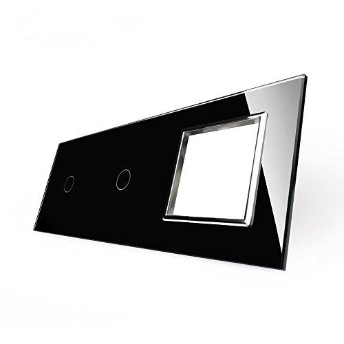 Glazen scherm voor dubbele schakelaar&stopcontact VL-C701-12/VL-C701-12/VL-C7C1EU-12