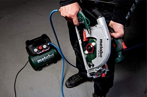 Metabo Kompressor Basic 160-6 W OF (Kessel 6 l, Max. Druck 8 bar, Ansaugleistung 160 l/min, Füllleistung 65 l/min, Max. Drehzahl 3500 /min, kompaktes Design) 601501000 - 5