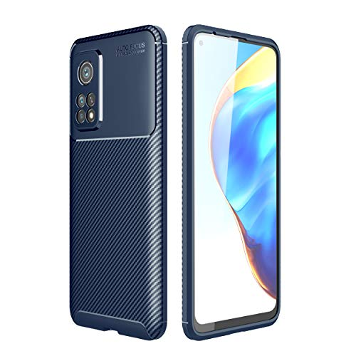 Funda para Xiaomi Mi 10T/10T Pro/Redmi K30S Lychee Pattern Soft TPU Caso para Móvil Resistente a los Golpes Anti-Caída Cubierta Protectora del Teléfono-Azul