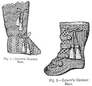 Crochet Infant Cowboy Boots Pattern