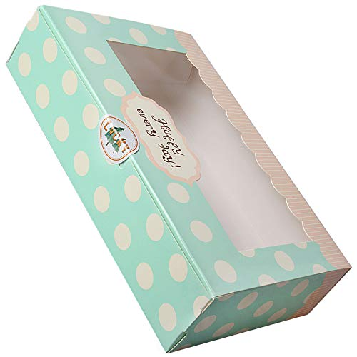 Lvcky 12 Stück Papier-Kuchenboxen für Kekse, Cupcakes, Gebäck, Verpackung, Geschenkboxen, Gebäckbehälter-Set, 20,3 cm