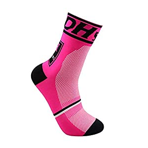Compression Socks for Men &Women, Tuscom Anti Skid Sweatproof Outdoor Compression Socks – Best Graduated Athletic Fit for Running, Nurses, Shin Splints, Flight, Cycling, Maternity, Pregnancy (Red)