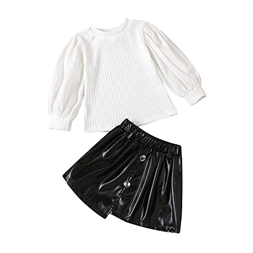 Camisa de manga larga para bebé y niña, color negro, faldas, invierno, Navidad, para bebés
