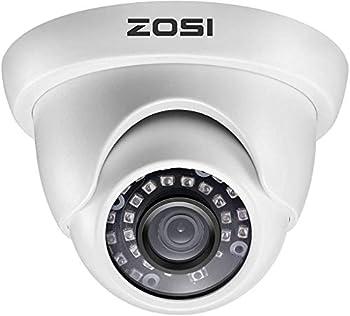 ZOSI 2.0MP 1080P 1920TVL Hybrid 4-in-1 TVI CVI AHD CVBS Security Surveillance CCTV Dome Camera Weatherproof 80ft IR Day Night Vision For 960H,720P,1080P,5MP,4K analog Surveillance DVR  White
