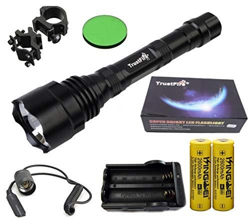 Linterna Trustfire TR-T1-1 Led CREE XML-T6-1 Modo, 1600 lm 2 baterias -...