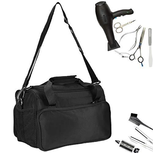 Tragbare Friseurtasche Salon Werkzeugtasche Große Kapazitäts mit Schultergurt Haar Stylist Tasche für Ausrüstung Schwarz Friseur Tasche