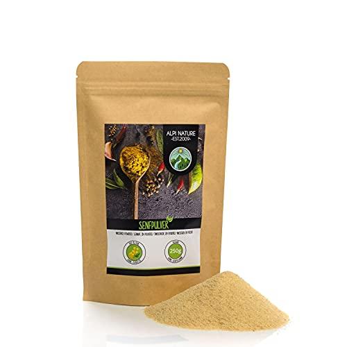 Senape in polvere (250g), 100% naturale di semi di senape, semi di senape delicatamente essiccati e macinati, senza additivi, vegani