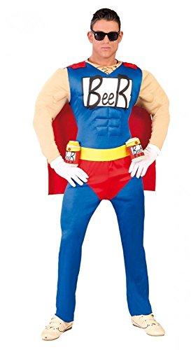 shoperama Lustiges Herren-Kostüm Biermann Duff Beer Man Bier-Mann Junggesellenabschied JGA, Größe:M