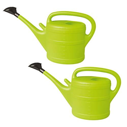 GELI Gießkanne aus Kunststoff mit Brause 2 mal 5 Liter mintgrün