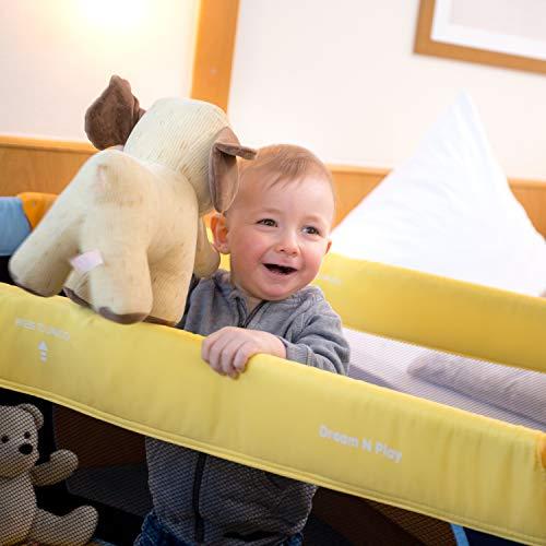 Hauck Kinderreisebett Dream N Play / inklusive Einlageboden und Tasche / 120 x 60cm / ab Geburt / tragbar und faltbar, Mehrfarbig - 6