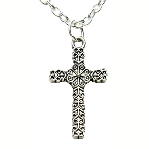 Small Filigree Celtic Cross Necklace 1477