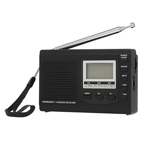 CHYE Tragbares Radio, Walkman-Radio tragbare Radiowecker Automatische Sendersuche Batteriebetriebene Funk für Wandern Wandern Camping,A