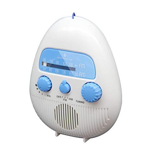 Ba30DEllylelly Radio de ducha a prueba de agua Altavoz de radio de ducha portátil inalámbrico con puerto de tarjeta USB y TF y alta definición de 96 bits