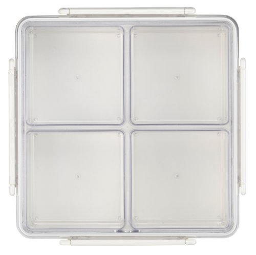 divided serving tray with cover - 7