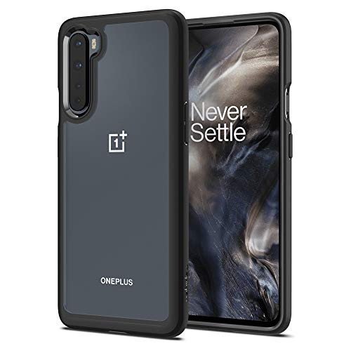 Spigen Ultra Hybrid Compatible with OnePlus Nord Clear Hard PC Back Flexible Bumper with Shockproof Air Cushion Case for OnePlus Nord - Matte Black