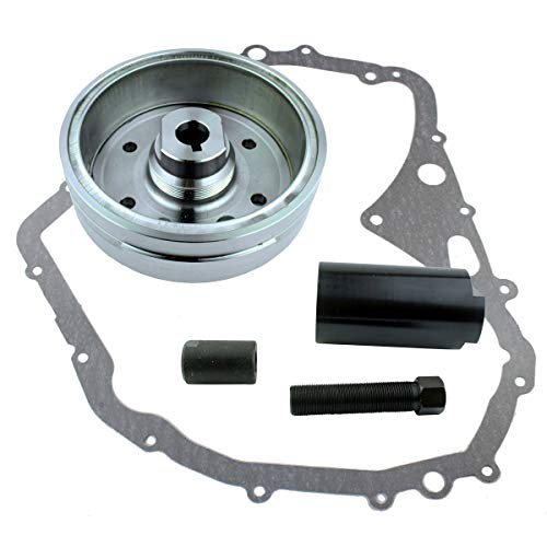 Kit Improved Flywheel + Flywheel Puller + Gasket For Suzuki LTF 400 Eiger 2002-2007 Arctic Cat 400 Manual 2003 2004 2005 2006 2007 2008