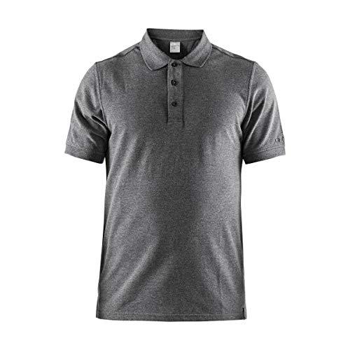 Craft Homme Casual Polo Pique M DK Grey Polo Chemise pour Homme, Gris, 3 x l