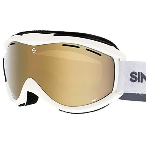 SINNER Skibrille für Herren und Damen in Mehrere Stylische Farben - Brille für Ski & Snowboard mit Beschlag- und UV Schutz & Doppel-Objektiv für Anti-Fog - Goggle ist Skihelm Kompatibel - Weiss