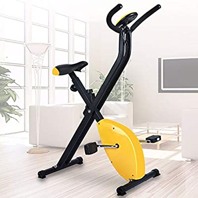 Folding Cycling Bike Indoor, Foldable Exercise Bike Home Cycling Magnetic Trainer Fitness Stationary Machine Workout Bike for Home Use for Men, Women, and Seniors