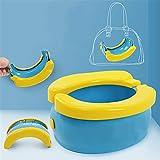 Gong Riduttore WC per Bambini Viaggia Portatile Pieghevole, con Piatto Paraspruzzi Leggero E Portatile, Adatto per Il Viaggio, Adatto A Ragazzi E Ragazze