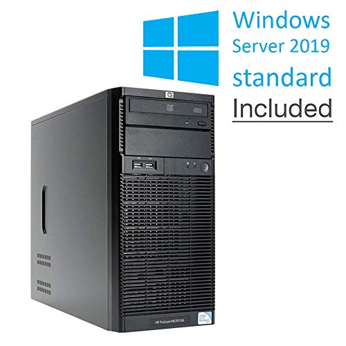 HP Proliant ML110 G6 Tower, Intel Xeon Quad Core, 16 GB RAM, 2X HDD 500 GB, Raid Ctrl. Windows Server Standard 2019 (Reacondicionado Certificado)