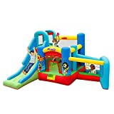qazxsw Small Children's Home Inflatable Castle Summer Indoor Amusement Park Children's Inflatable Playground Big Trampoline Inflatable Play Fence Children's Party