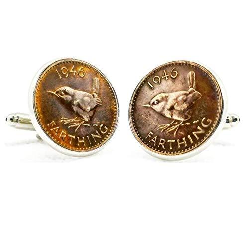 Gemelos para camisa: Genumis Cistothorus - Moneda 1 farthing 1937-1948