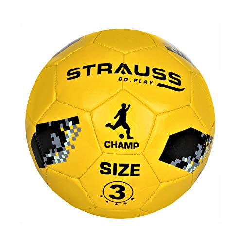 Strauss Champ Football, Size 3, Yellow (for Kids)