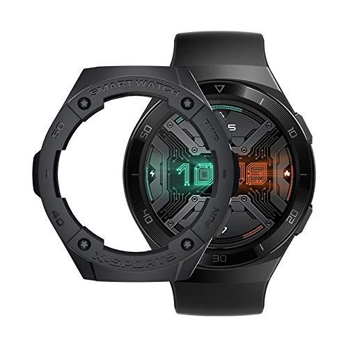 Luoshan para el Reloj Huawei GT2E Smart Watch TPU Funda Protectora, Color: Negro
