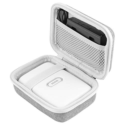 co2CREA Harte reiseschutzhülle Etui Tasche für Fujifilm Instax Mini Link Portable Bluetooth Wireless Smartphone Printer (Grey Outside,White Inside)