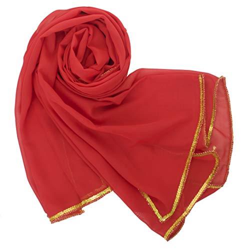 BellyLady - Sciarpa da donna, colore: Rosso Colore: rosso Taglia unica