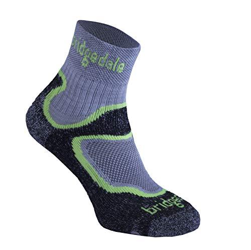 Bridgedale Trail Sport Herren Socken T2 Merino Cool Comfort 3/4 Crew M schwarz / schwarz