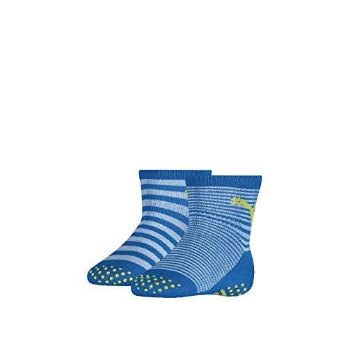 PUMA Unisex-Baby ABS (2 Pack) Socks, Blue Green Combo, 15-18 (2er Pack)