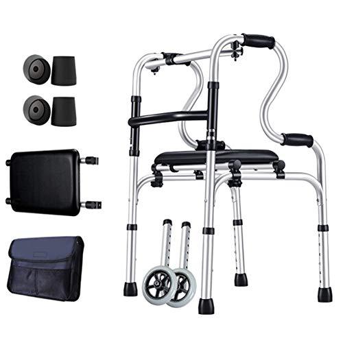 YXX- Rollator Gehhilfen Senioren Leichter Walker Für Senioren, Ältere Und Behinderte Menschen - Faltbarer Rollator Für Den Innen- Und Außenbereich, Last 180 Kg Gehwagen