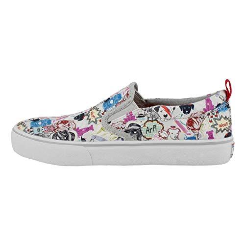 Skechers Women's BOBS Marley Jr. - Pop Life Slip On Sneaker, Gray/Multi, 9