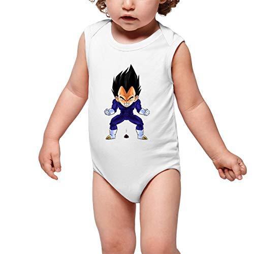 Okiwoki Body bébé sans Manches Blanc Parodie Dragon Ball Z - DBZ - Végéta - Super Caca Vol.2(Body bébé de qualité supérieure de Taille 3 Mois - imprimé en France)