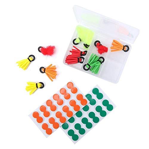 MAXIMUMCATCH Strike Indicator Set mit Box, Foam Tip Toppers Bissanzeiger, Fliegenfischen Zubehör (Strike Indicator Set)