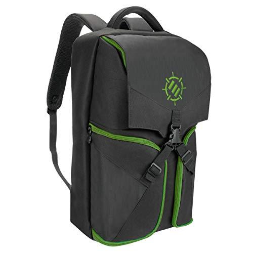 ENHANCE Universal Gaming Rucksack für Konsolen wie PS4 Pro, Xbox One & Computer Ausreichend Platz für Ihre Controller, Headsets, Spiele, Mäuse, Tastaturen & Zubehör - Essential Esports Gear - Grün