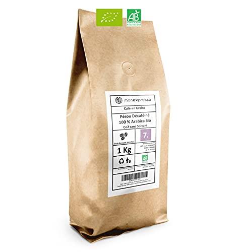Café en grains Bio - Pérou décaféiné sans solvant - 100% arabica - Torréfié artisanalement en France