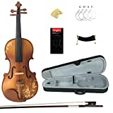 Fiori intagliati a mano sulla superficie del violino; maestria artigianale rende violino tradizionale non solo più bella e individualizzato, e perfettamente garantisce la qualità del tono del violino Handcrafted top in abete massello, acero e indietr...