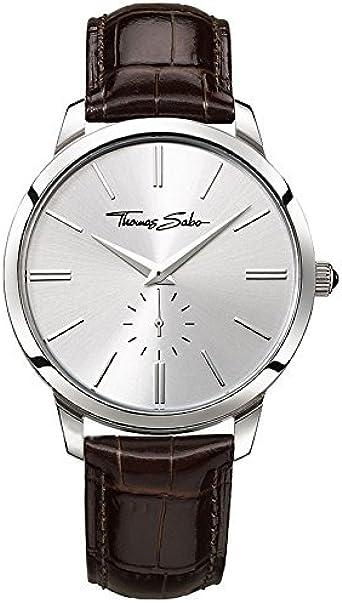 Thomas Sabo Reloj Analógico para Hombre de Cuarzo con Correa en Cuero WA0151-244-201-42
