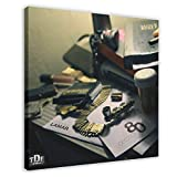 Kendrick Lamar's Album Cover - Section.80 Canvas Poster Wall Art Decor Print Picture Paintings for Living Room Bedroom Decoration 12×12inch(30×30cm) Frame-style1