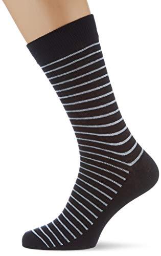 JACK & JONES Herren Jacstripy Noos Socken, Black, Einheitsgr e EU