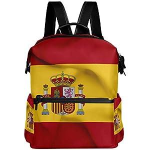 41ngDrH G9L. SS300  - Mochila Oarencol con bandera de España ondeando la bandera de España para el colegio, para viajes, senderismo, acampada, portátil