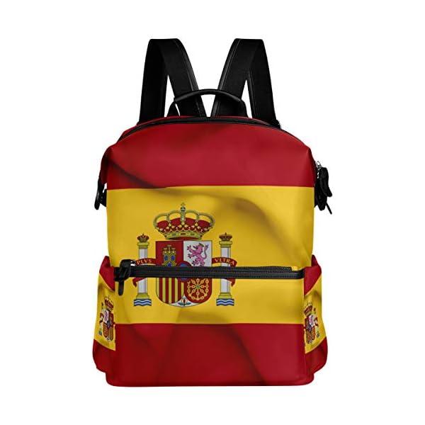 Mochila Oarencol con bandera de España ondeando la bandera de España para el colegio, para viajes, senderismo, acampada…