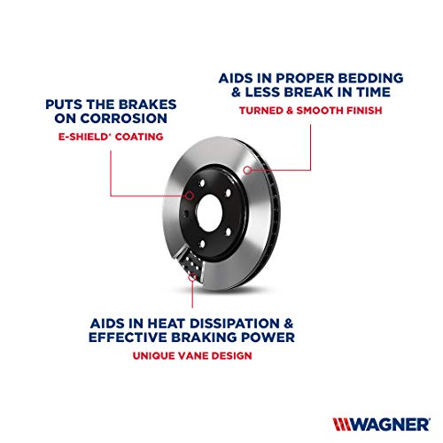 Wagner BD126082E Premium E-Coated Brake Rotor