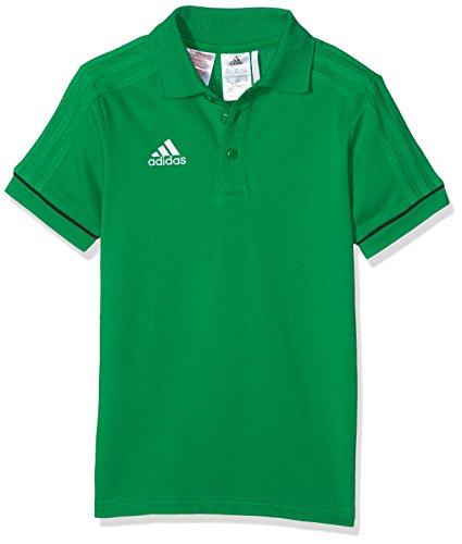 adidas Jungen Tiro 17 Cotton Poloshirt, Green/Black/White, 152