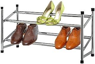 Home Basics Shoe Rack, 2-Tier, Chrome
