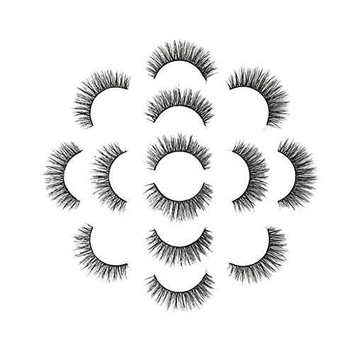 Snakell Magnétique Faux Cils, (7 paires) Faux Cils 6D Réutilisables sans Colle Faux cils Naturels à la Main Faux cils épais